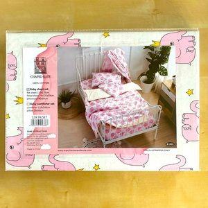 Baby Sheet Set 100% Cotton White/Pink/Yellow